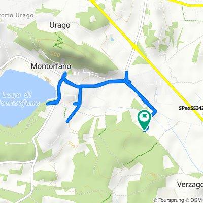 Da Via Alzate, Montorfano a Via Alzate, Montorfano