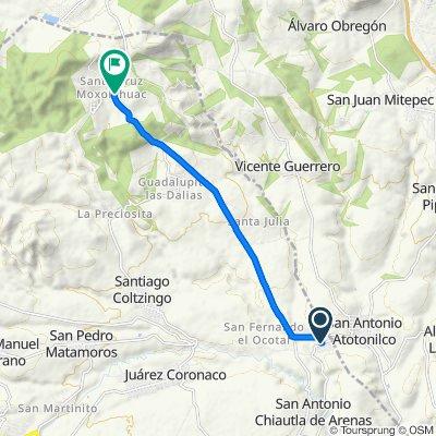 De Calle Domingo Arenas, San Francisco Tláloc a Carretera San Cristóbal Zacacalco-San Matías Tlalancaleca, Tlahuapan