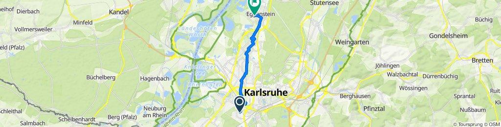 Goerdelerstraße 18, Karlsruhe nach K3580 49, Eggenstein-Leopoldshafen
