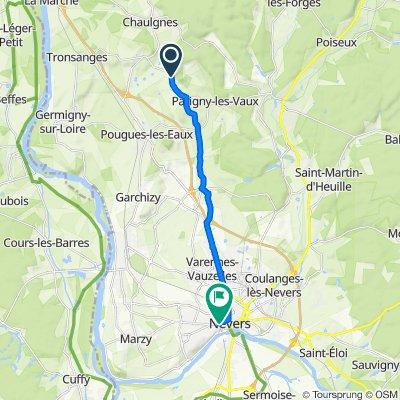 De 381 Route des Acacias, Parigny-les-Vaux à 55–59 Avenue du Général de Gaulle, Nevers