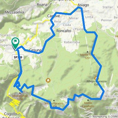 Tour Altopiano Asiago