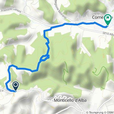 Da Via Sommariva Perno 25-23 a Corso Riddone 41, Corneliano d'Alba