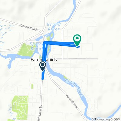 615 S Main St, Eaton Rapids to 105 Meath Rd, Eaton Rapids