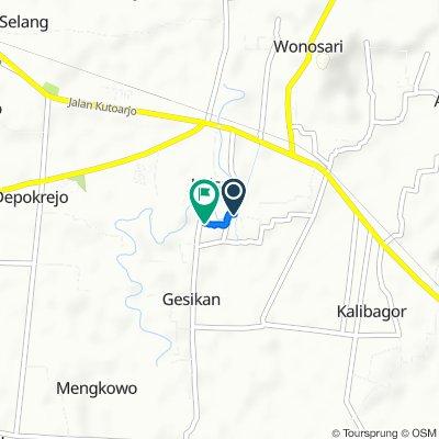 Restful route in Kecamatan Kebumen