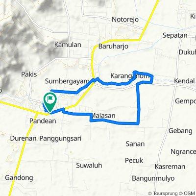 Jalan Lapangan No.5, Kecamatan Durenan to Jalan Lapangan 5, Kecamatan Durenan