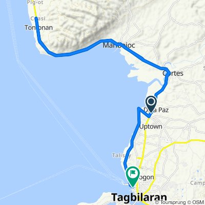 Restful route in Dauis