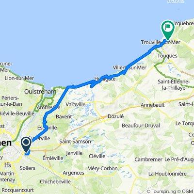 De Avenue des Commerces, Mondeville à Les 3 Étangs, Trouville-sur-Mer