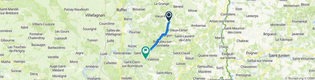 Grand Rue 14, Champagne-Mouton to Chemin des Loges 2, Valence