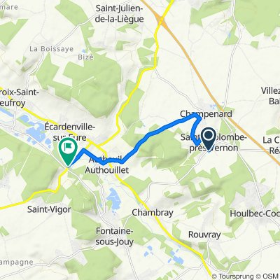 De 9 Rue de Chambray, Sainte-Colombe-près-Vernon à D316, Saint-Vigor