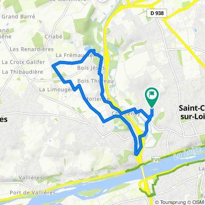De Rue de Montrésor 10, Saint-Cyr-sur-Loire à Rue de Montrésor 11, Saint-Cyr-sur-Loire