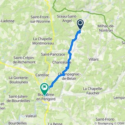 De D83, Saint-Front-la-Rivière à 16 Boulevard Charlemagne, Brantôme