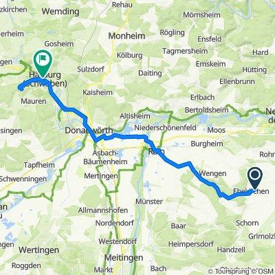 An der Schweil 17, Ehekirchen nach Donauwörther Straße 7, Harburg (Schwaben)