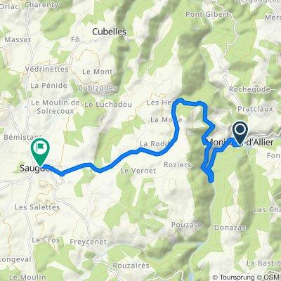 De D589, Monistrol-d'Allier à 2 Cours du Docteur Gervais, Saugues