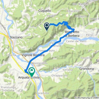 Da Strada Comunale Stazzano-Ca' del Bello, Stazzano a Via Filippo Spinola 16, Arquata Scrivia