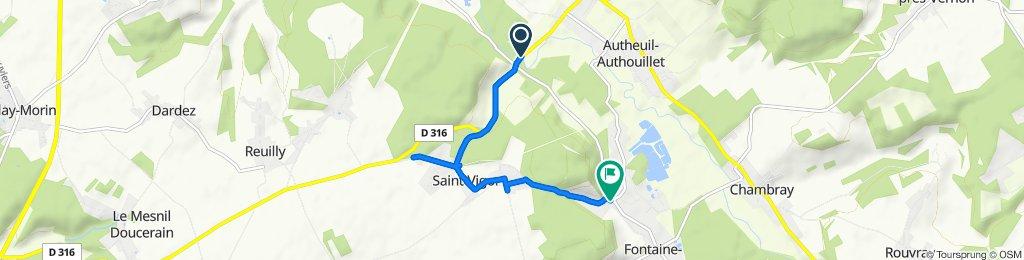 De D316, Saint-Vigor à Rue du Bailli, Fontaine-sous-Jouy