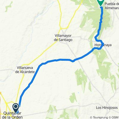 De Calle de la Oliva 114, Quintanar de la Orden a Unnamed Road, Puebla de Almenara