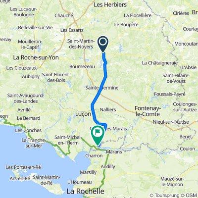 De Rue de Metz 4161, Chantonnay à D10A 9046, Sainte-Radégonde-des-Noyers