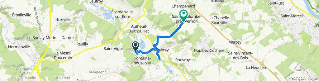 De Rue du Bailli, Fontaine-sous-Jouy à 11 Rue de Chambray, Sainte-Colombe-près-Vernon
