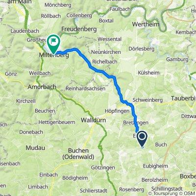 Gerichtstetter Straße 40, Hardheim nach Zwillingsbogen, Miltenberg