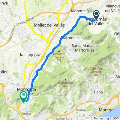 Ruta desde Rambla de Sant Sadurní 5, Montornès del Vallès