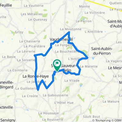 De Rue Langevin, Saint-Sauveur-Lendelin à Résidence de l'Avenir, Saint-Sauveur-Lendelin