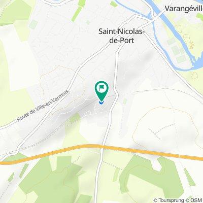 De 12 Allée des Bosquets, Saint-Nicolas-de-Port à 12 Allée des Bosquets, Saint-Nicolas-de-Port