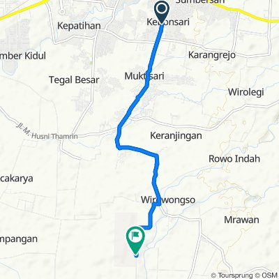 Jalan Letjend Suprapto No.152-148, Kecamatan Sumbersari to Notohadi Negoro Airport, Kecamatan Ajung