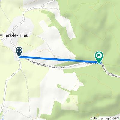 De 2 Route d'Omont, Villers-le-Tilleul à D27, Vendresse