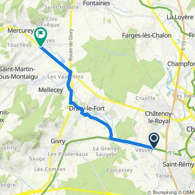 De 10 Chemin de la Brosse, Châtenoy-le-Royal à 2 Rue du Clos Rond, Mercurey
