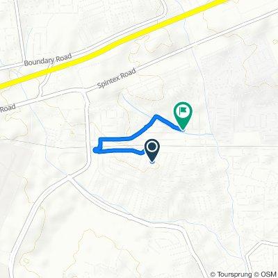 Route from Via Della Spiga, Accraspin