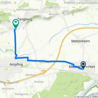 Gartenweg 1, Mettenheim nach Palmberg 25–29, Zangberg