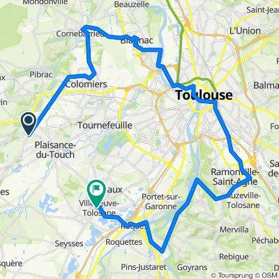 Sporty route in Villeneuve-Tolosane