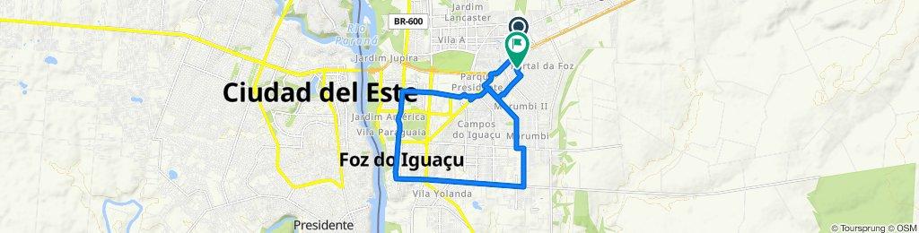 De Rua Luz Marina, 621, Foz do Iguaçu a Rua Pardais, 251, Foz do Iguaçu