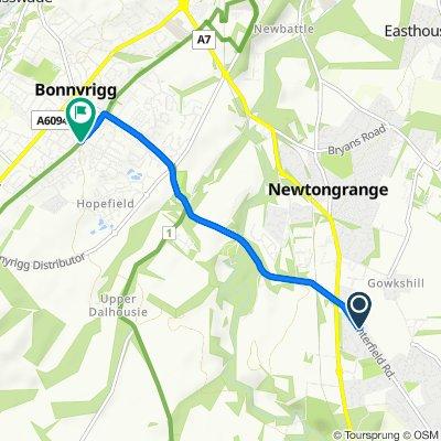 20 Newton Loan Court, Gorebridge to 40 Campview Road, Bonnyrigg