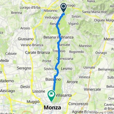 Da Via dei Castagni 1, Cremella a Viale Regina Margherita 15, Monza