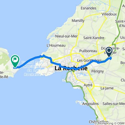 Itinéraire vers 98 Rue Édouard Herriot, Rivedoux-Plage