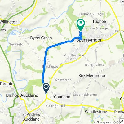 Parkhead Service Station, Parkhead Road, Bishop Auckland to 4 Tangmere, Spennymoor