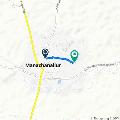 Sub Street, Manachanallur to Unnamed Road, Manachanallur