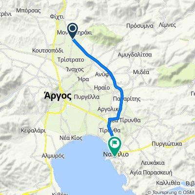 Επαρχιακή Οδός Ναυπλίου - Κορίνθου, Αργολίδα to Άργους 2-4, Ναύπλιο
