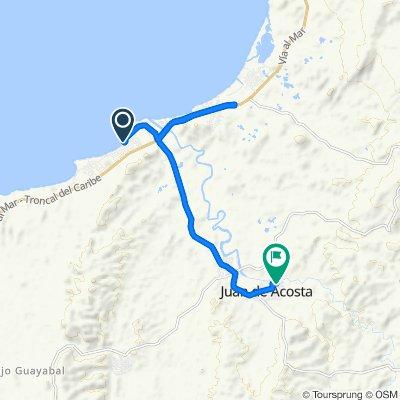 Ruta a Calle 4 2-100–2-2, Juan De Acosta