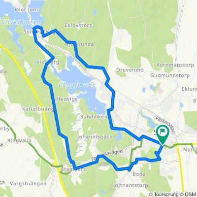 Östra Tulegatan 49C, Sala to Östra Tulegatan 42, Sala