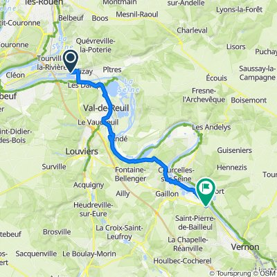 Route from Rue des Sablons 19, Igoville