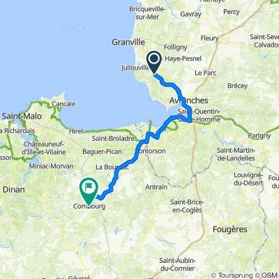 D143, Angey to 7 Place Saint-Gilduin, Combourg