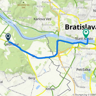 Donaugasse 2, Wolfsthal do Prešernova 56/4, Bratislava