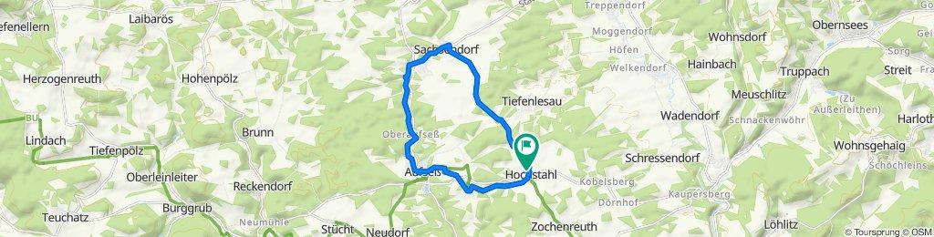Brauereienweg Hochstahl - Sachsendorf - Aufseß - Heckenhof