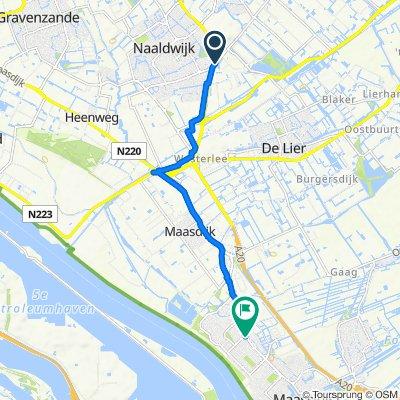 Middel Broekweg 16A, Honselersdijk naar Kwartellaan 2, Maassluis