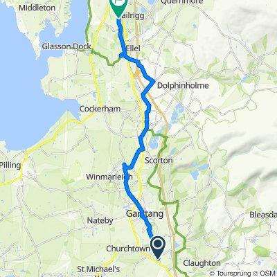 202 Garstang Road, Preston to Berksey Brow, Burrow Road, Lancaster