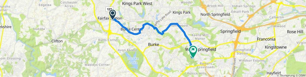 5717 Burke Centre Pkwy, Burke to 6917 Barnack Dr, Springfield