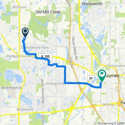 37049 N Deerpath Dr, Lake Villa to North Ave, Gurnee