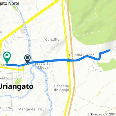 De Boulevard Benito Juárez 146–150, Uriangato a Calle Juan Aldama 6C, Uriangato